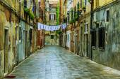 Venice, Italy - old street and historic tenements — Stock Photo