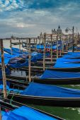 Gondolas in Venice (filtered) — Stock Photo