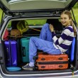 Summer vacation, young girl ready for travel — Stock Photo #71926081