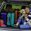 Summer vacation, young girl ready for travel — Stock Photo #71926239