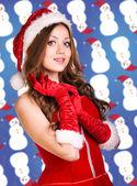 性感的圣诞老人 — 图库照片