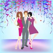 Young people having party — Stock Vector