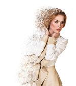 Beautiful  debris woman — Stock Photo
