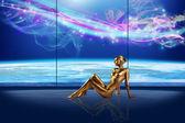 Gold lady — Stock Photo