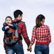 Baby boy in backpack — Stock Photo #70001367