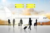 International Airport Terminal — Stock Photo