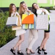 Young women after shopping — Stock Photo #71175233