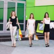 Young women after shopping — Stock Photo #71175467