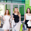 Young women after shopping — Stock Photo #71175679