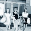 Young women after shopping — Stock Photo #71713051