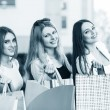 Young women after shopping — Stock Photo #71718255