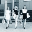 Young women after shopping — Stock Photo #71725103
