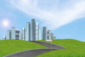 New high-rise buildings — Stock Photo