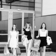 Young women after shopping — Stock Photo #73556771