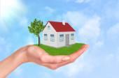 Hand holding house — Stock Photo