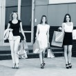Young women after shopping — Stock Photo #74329113