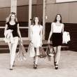 Young women after shopping — Stock Photo #74329119