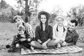 Happy family outdoors — Stock Photo