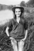 Mutlu kız — Stok fotoğraf