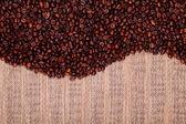 Fresh coffee beans , ready to brew delicious coffee — Stock Photo