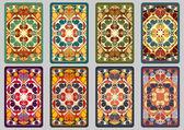 Set retro cards — Stock Vector