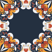 Abstract patterned frame — Stockvector