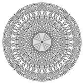 Round ethnic pattern — Stock Vector