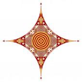 Ethnic star — Stock Vector