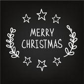 Рисованной Рождество эскиз — Cтоковый вектор