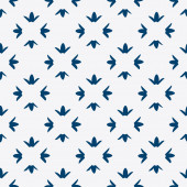Hand drawn seamless indigo pattern — ストックベクタ