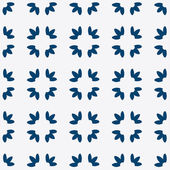 Blue and white delft pattern — Vetor de Stock