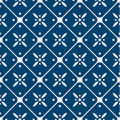 Blue and white delft pattern — Stock Vector