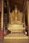Buddha image at Nga Phe Chaung Monastery Myanmar — Photo