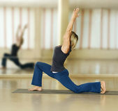 Woman doing yoga exercises — Stock Photo