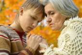 Grandmother with boy — Stock Photo