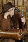 Mature female Bandit — Stock Photo