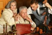 Gangsters in retro style — Stock Photo