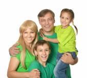 Hübsch glückliche Familie — Stockfoto