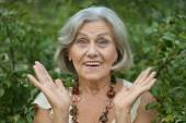 Surprised beautiful old woman — Foto Stock