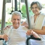Senior couple in gym — Stock Photo #54460921