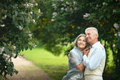 Mature couple in town — Stock Photo