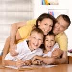 Happy family drawing — Stock Photo #54907485
