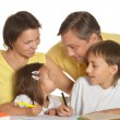 Kids doing homework — Stock Photo #54912223