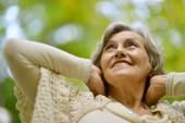 Nice smiling old woman — Zdjęcie stockowe