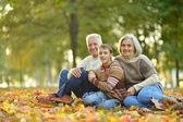 Grandparents and granson — Stock Photo