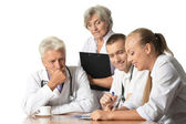 Group of doctors have discussion — Stock Photo