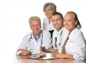 Group of doctors have discussion — Foto de Stock