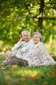 公園で成熟したカップル — ストック写真