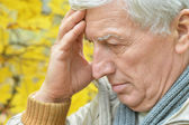 Senior man thinking — Stock Photo