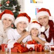 Family celebrating New Year — Stock Photo #56140043